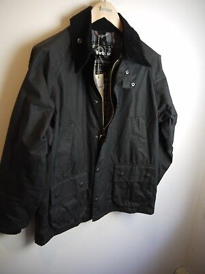 Barbour Bedale Wax Jacket, New With Tags, Size 36, Black