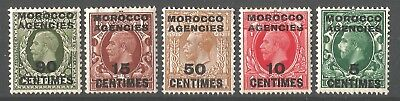MOROCCO AGENCIES 1925 KGV George V, Mint MH stamps, incl. SG209 90c