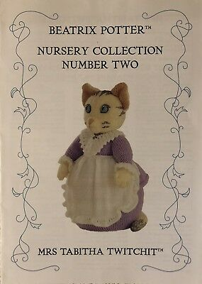 Alan Dart'S Beatrix Potter 'Mrs. Tabitha Twitchit' Toy Knitting Pattern New