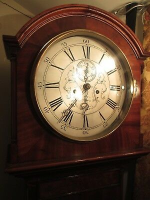 Georgian  Grandfather Clock In Superb Mahogany Case