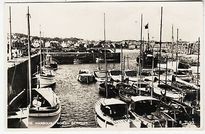 NORTH BERWICK HARBOUR - Valentine's #7450 - 1958 used real photo postcard