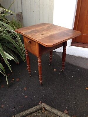 Antique Victorian Pembroke 2 drawer Mahogany Sewing / Writing Table