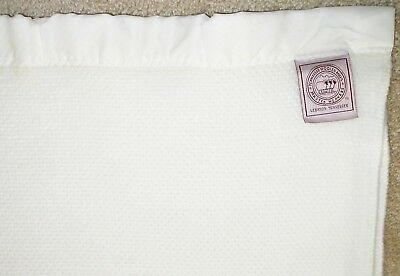 WAFFLE WEAVE BLANKET~Super Soft! White Acrylic Queen 96 Wide x 90 Long~NICE!