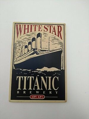 TITANIC BREWERY'S WHITE STAR, BEER PUMP BADGE. Real ale cruise Liner Cunard