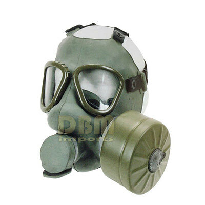 Yugoslavian M1 Gas Mask with Filter and Canvas Carrier