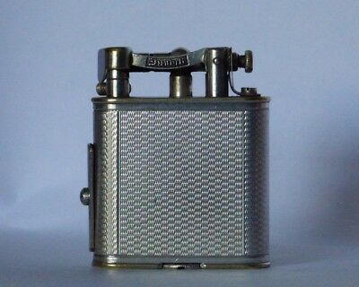 Dunhill Unique Pipe Lighter with Tamper - Silver Plated with Engined Turned Body