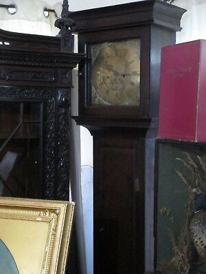 Grandfather Clock Oak 8 Day Brass Faced