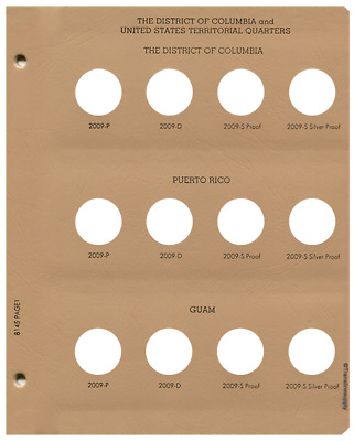 Dansco US Statehood Quarter DC & Territories w/ Proof Coin Album Page 1 #1-8145