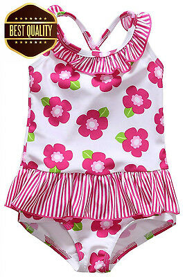 7d3e4b5eae CharmLeaks Baby Girls Cute One Piece Swimming Costumes Printed Swimsuits.