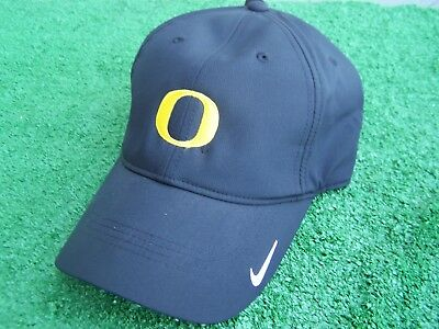 6303c647ccb Nike Golf University of Oregon Ducks Black Dri Fit Golf Hat Cap Adjustable  NEW
