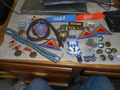 vintage usa military lot of patches and pins