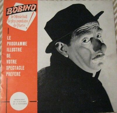 programme Bobino 1961 Achille ZAVATTA clown de cirque Music hall