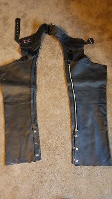 Leather chaps mens riding motorcycles Event Bike Leather mens large