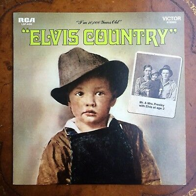 "Elvis Presley ""Elvis Country"" I'm 10,000 Years Old Lsp-4460 Lp Orange Label Flex"