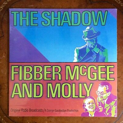 "FIBBER McGEE AND MOLLY ""THE SHADOW"" LP MARK RECORDS 636 1973 RADIO SHOWS SEALED"