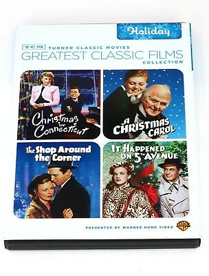 TCM Silver Screen Icons Holiday DVD, 2009, 4-Disc Set Christmas in Connecticut