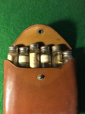 Vintage Doctor's Travel Bag With Medicine Bottles Apotohcary Leather Kid Rare!!