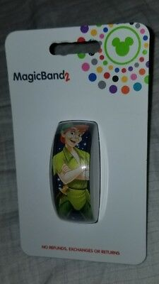 NEW Disney Parks Peter Pan Magic Band 2 Neverland Magic Kingdom Navy Blue