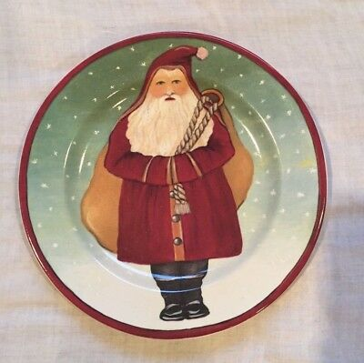 """Block By Gear Father Christmas Santa Claus Holiday Decorative 8"""" Plate - 1995"""