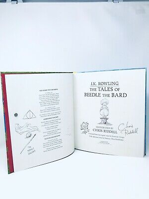 SIGNED DOODLED The Tales of Beedle the Bard - JK Rowling Chris Riddell UK 1/1 HB