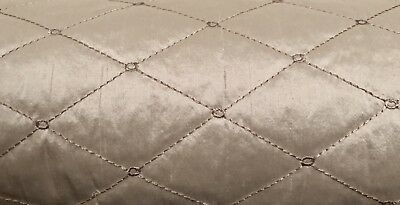 Shundi CL S0110 Quilted Silk Upholstery Fabric by Stroheim by HALF YARD