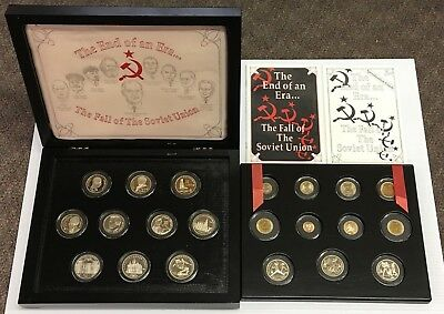 1991 Ussr Soviet Union 21 Coin Set With 2 Gold Ballerina Coins Russia Coa Box