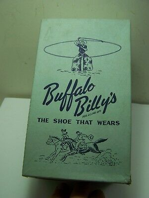 """Vintage Vintage Buffalo Billy's Kid Shoes """"The Shoe That Wears"""" With Box RARE??"""