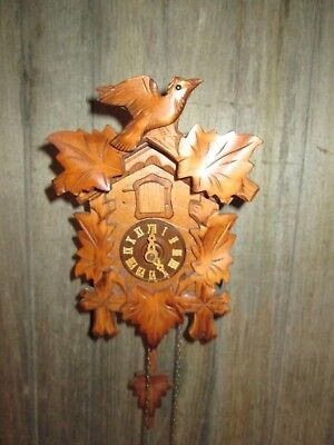 Vintage Model 859 Regula Cuckoo Clock West Germany WOOD CLOCK HANDS