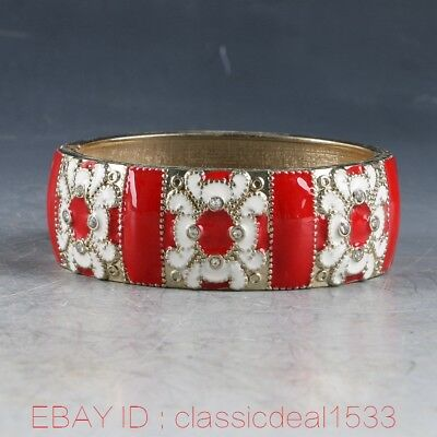 Exquisite Chinese Cloisonne Hand Carve Bracelet MY0295