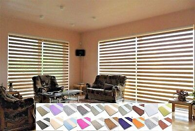 Made To Measure Premium Day and Night Cassette Zebra Vision Window Roller Blinds