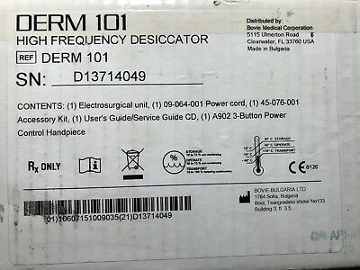 Bovie Derm 101 High Frequency Desiccator Brand New