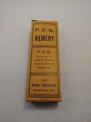 Vintage Booker Laboratories P D Q Remedy Box OFFERS OPEN