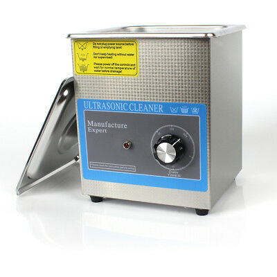 60W Stainless Steel Liter Industry Ultrasonic Cleaner with Timer US SHIP 1.3L