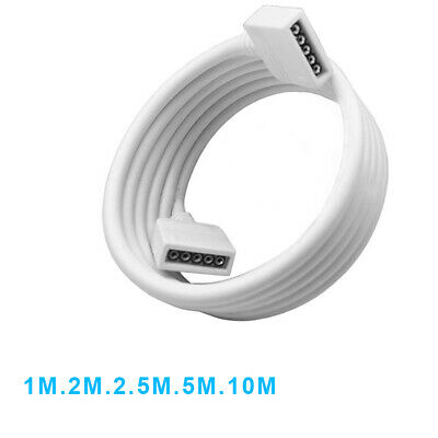 5 PIN Extension Connector Cable Line Cord Wire For RGBW RGBWW LED Strip Light