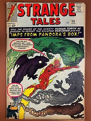 Strange Tales #109 (1963 Marvel) Human Torch appearance Silver Age NO RESERVE