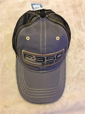 Ford F-350 Super Duty Hat Cap Gray Gold Black Mesh H3 Headwear Offical Licensed