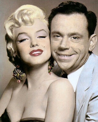 """MARILYN MONROE TOM EWELL THE SEVEN YEAR ITCH 1955 8x10"""" HAND COLOR TINTED PHOTO"""