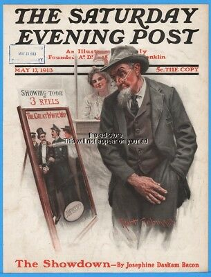 1913 The Great White Way Robt Robinson Saturday Evening Post Cover Only
