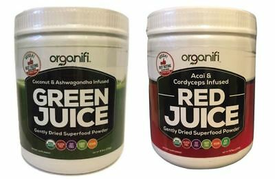 Organifi Superfood GREEN JUICE and Organifi RED JUICE Combo Pack FREE SHIPPING