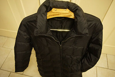 down long puffer coat Andrew Marc New York M black quilted parka urban street
