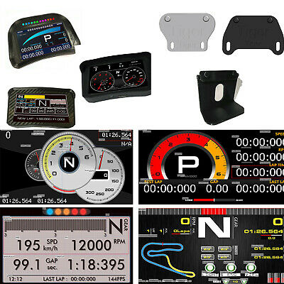 Race Game 5.0 LCD Dashboard SIM + Bracket for Logitech CSW ATS ETS2 Dirt3 F1 RRE