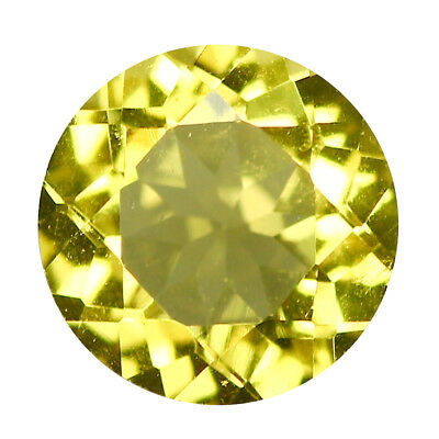 0.79Ct Round cut 6 x 6 mm 100% Natural AAA Yellow Beryl