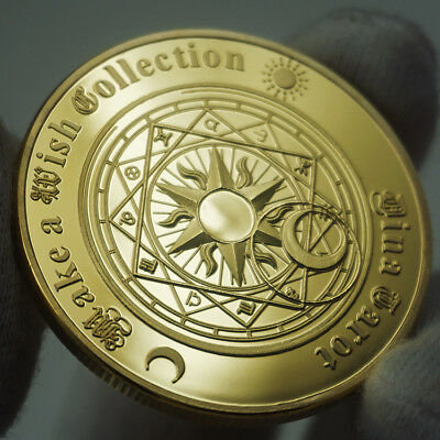 Tarot Sun Moon Geomancy Constellation Feng shui Lucky Wish Gold Coin Gift US