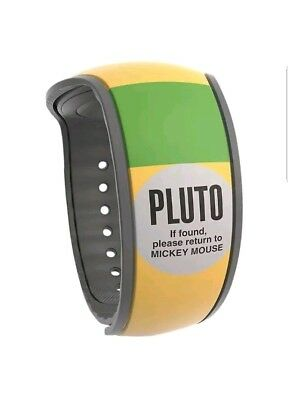 NEW Disney Parks I Am Pluto Yellow Black Magic Band 2 LINK IT LATER