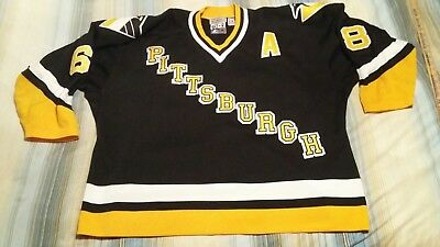 promo code 300bc a0e1e JAROMIR JAGR #68 PITTSBURGH PENGUINS AUTHENTIC STARTER HOCKEY JERSEY sz 60r