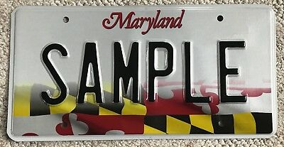 Maryland SAMPLE License Plate