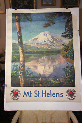 Northern Pacific Mt. St. Helens Poster by Gustav Krollmann