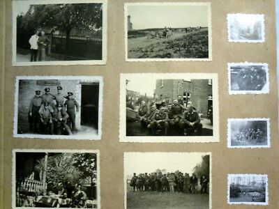 2 WW,Album 1 sheet of 19. photos, soldiers,war zones, nice collection