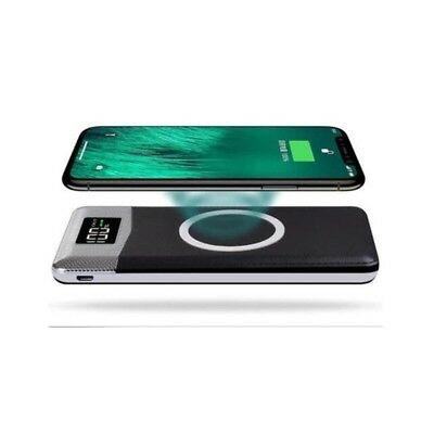 Qi Power Bank Wireless Charger Fast Charging 2 USB for Apple & Samsung Galaxy