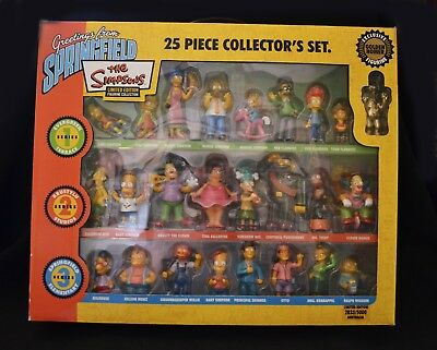 The Simpsons 25 Piece Collector's Set 1, 2 & 3 Figurines Limited Edition 2005